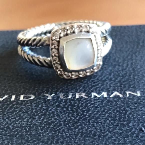 2cdcbca2b9cfb RARE David Yurman Moonstone Petite Albion Ring